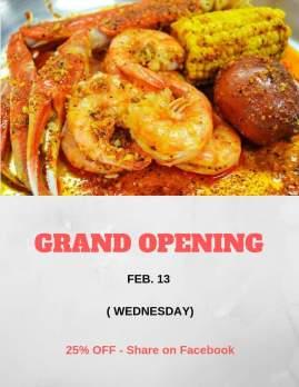 Carolina Crab House Dining Flyer